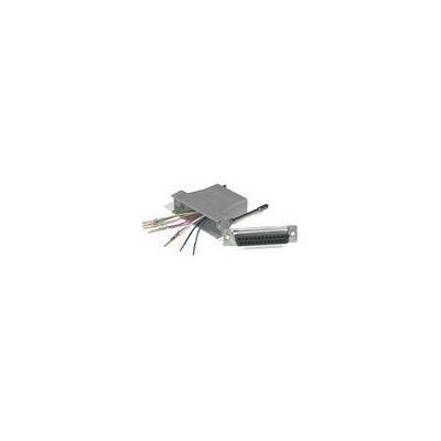 C2G 10-pin RJ45/DB25M Modular Adapter Kabel adapter - Grijs