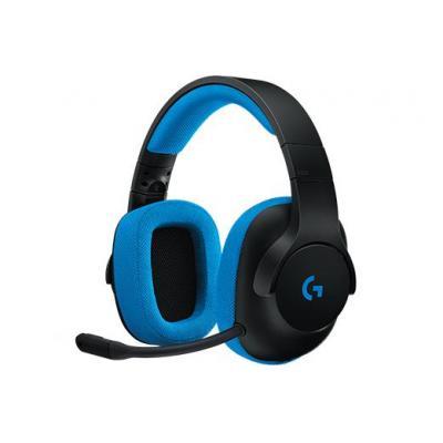 Logitech headset: G233 - Zwart, Blauw