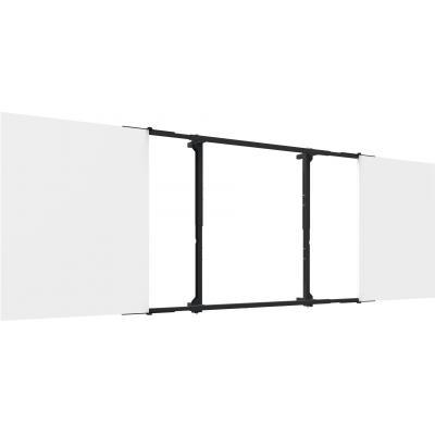 SmartMetals Landscape, Schermspecifiek, 9 kg, Wit, Zwart Montagekit - Zwart, Wit