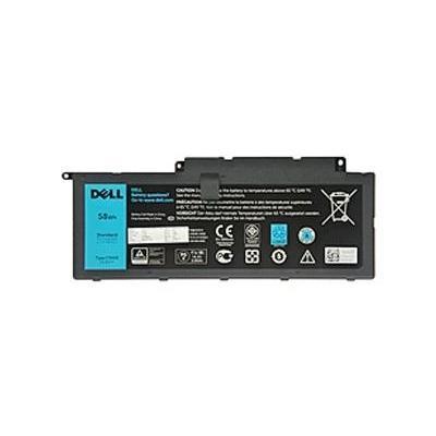 Dell 58 Wh 4-cel primaire batterij voorInspiron 7537/7737 notebook reserve-onderdeel - Zwart