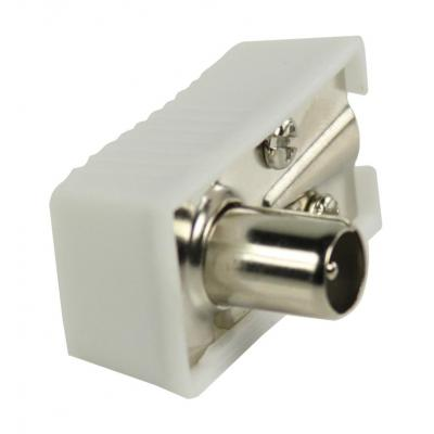 Valueline Angled coax connectors, coax male, white Coaxconnector - Wit