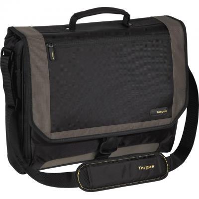 Targus laptoptas: 16 - 17.3 inch / 40.6 - 43.9cm XL City.Gear Messenger Laptop Case - Zwart, Grijs
