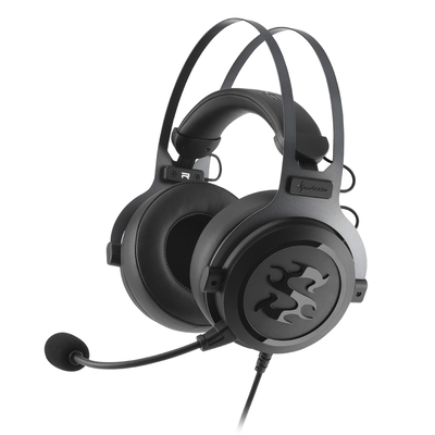 Sharkoon SKILLER SGH3 Headset - Zwart, Titanium