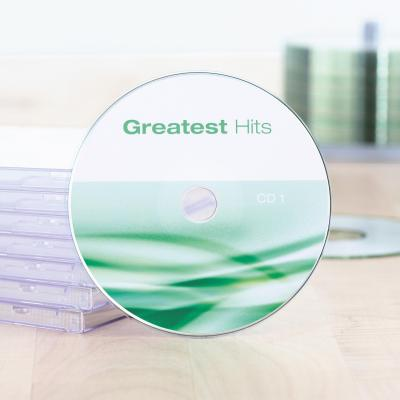 Herma etiket: Inkjet CD labels Maxi A4 Ø 116 mm white paper matt 50 pcs. - Wit