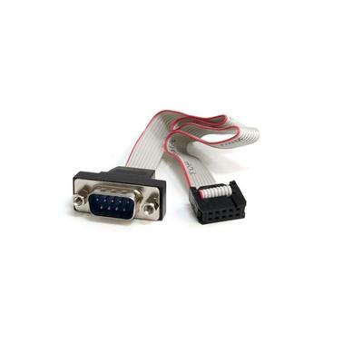 StarTech.com 40cm 9-pins Serieel Mannelijk naar 10-pins Moederbord Inbouwpaneel Kabel Seriele kabel - Grijs