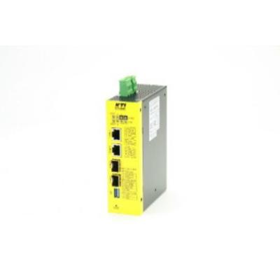 KTI Networks KGC-460-HP Media converter - Metallic, Geel