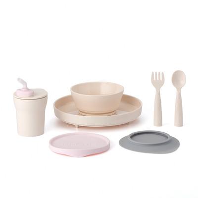 Miniware Little Foodie Set - Grijs,Roze,Vanillekleur