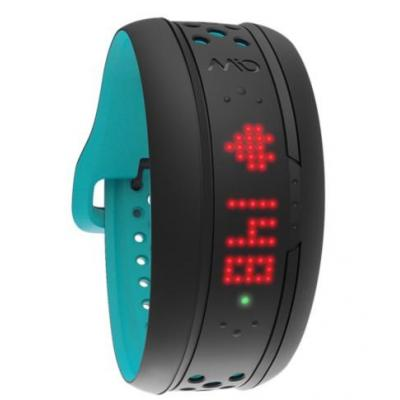 Mio wearable: FUSE - Zwart, Turkoois