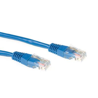 Ewent Blue 7 metre UTP CAT5E patch cable with RJ45 connectors Netwerkkabel - Blauw