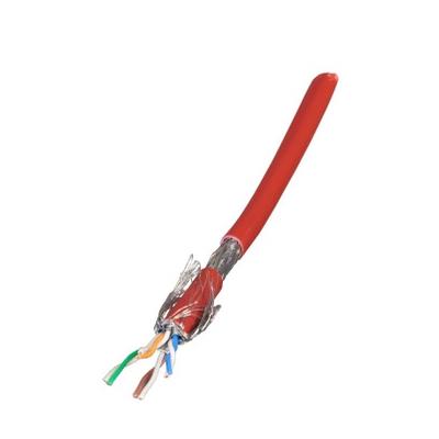 EFB Elektronik Raw cable Cat.7, S/FTP, LSZH, red, 100m ring Netwerkkabel - Rood