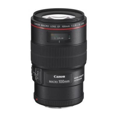 Canon camera lens: EF 100mm f/2.8L Macro IS USM - Zwart