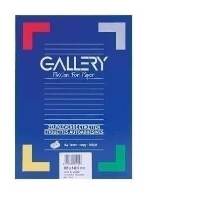 Gallery etiket: Labels 99.1 x 93.1mm 100 sheets - Wit