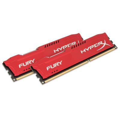 HyperX FURY Red 16GB 1600MHz DDR3 RAM-geheugen - Rood