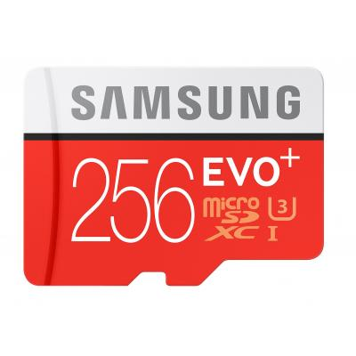 Samsung EVO Plus MB-MC256D flashgeheugen - Rood, Wit
