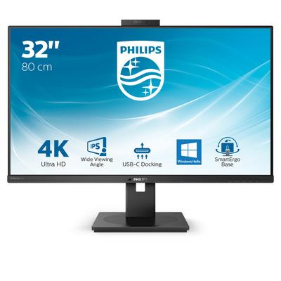 """Philips P-Line 31.5"""" 4K UHD met USB-C-dock Monitor - Zwart"""