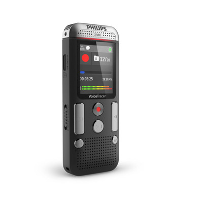 Philips voice recorder: 2000 series DVT2510 - Antraciet, Chroom