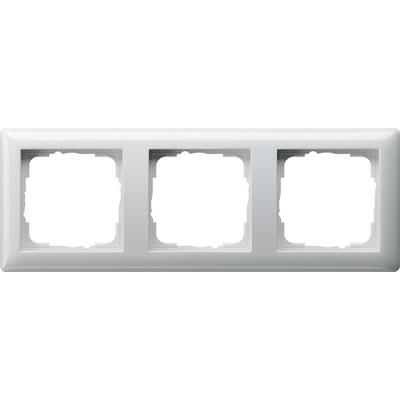 GIRA Afdekraam Standaard 55 zuiver wit glanzend, drievoudig