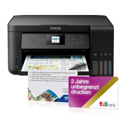 Epson EcoTank ET-2750 Multifunctional - Zwart, Cyaan, Magenta, Geel
