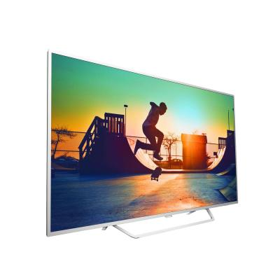 Philips led-tv: 6000 series Ultraslanke 4K-TV powered by Android TV 65PUS6412/12 - Wit