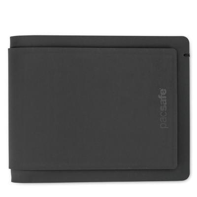 Pacsafe portemonnee: 7xCard Pockets, 110x10x90mm, 70g, Black - Zwart