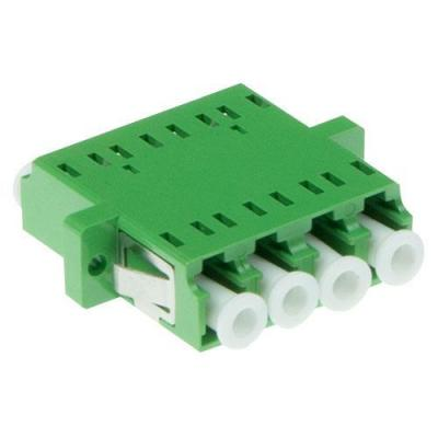 Advanced cable technology fiber optic adapter: iber optic LC-APC quad adapter singlemode OS2 - Groen