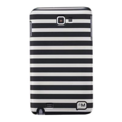Anymode apparatuurtas: Hard Case Cover Horizontal Stripes Galaxy Note 5.3 inch (Zwart)