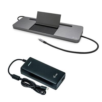 I-tec Metal USB-C Ergonomic 4K 3x Display with Power Delivery 85 W + Universal Charger 112 W Docking station - .....