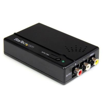 Startech.com video converter: HDMI naar Composiet Converter met Audio - Zwart