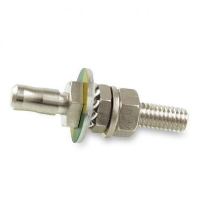 Baaske Medical PE panel connector complete 6/25 Elektrische complete connector - Metallic