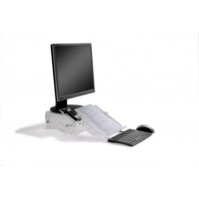 BakkerElkhuizen Q-deskmanager 150 Monitorarm - Transparant
