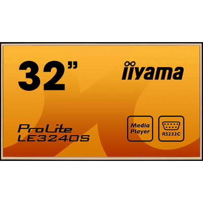 Iiyama ProLite LE3240S-B1 Public display - Zwart