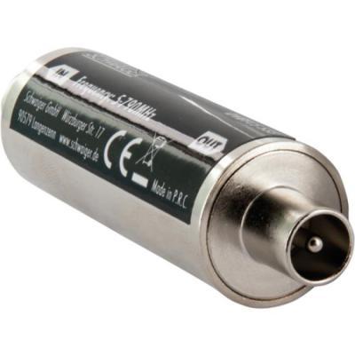 Schwaiger : LTE Band-Stop Filter, IEC connector > IEC jack - Metallic