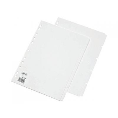Staples schutkaart: Tabblad SPLS A4 11r blanco karton/set 5