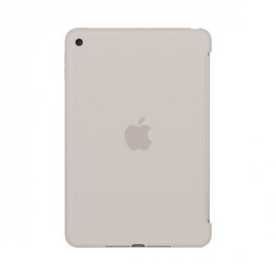 Apple tablet case: Siliconenhoes voor iPad mini 4 - Steengrijs - Beige