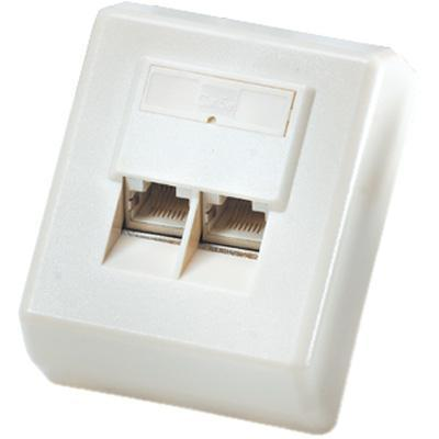 ROLINE Surface Mount Wall Jack, Cat.5e, unshielded white Patch panel - Wit