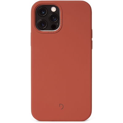 Decoded Silicone Backcover MagSafe iPhone 12 (Pro) - Rust - Rood / Red Mobile phone case