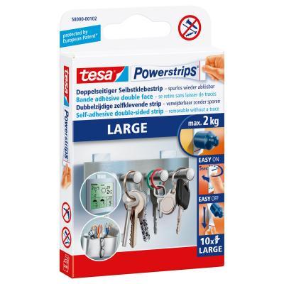 Tesa : Powerstrips LARGE - Wit