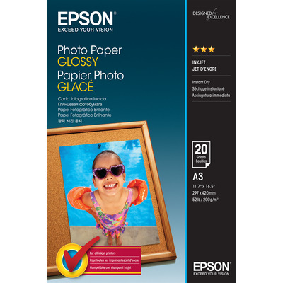 Epson Photo Paper Glossy - A3 - 20 Vellen Fotopapier