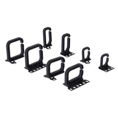 Conteg Plastic cable brackets vertical 80x80 mm Rack toebehoren - Zwart