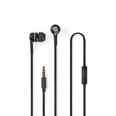 Nedis HPWD2020BK Headset - Zwart, Zilver