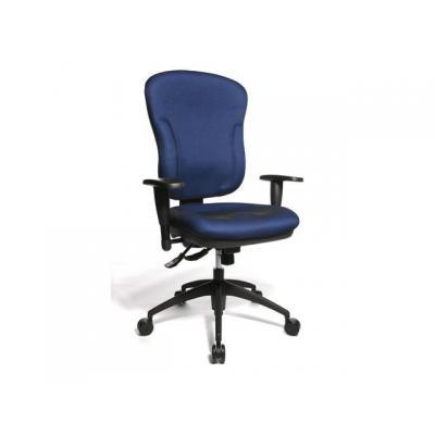 Topstar stoel: Bureaustoelen Wellpoint blauw met arm