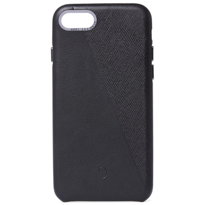 Decoded Dual Leather Backcover iPhone SE (2020) / 8 / 7 - Zwart - Zwart / Black Mobile phone case
