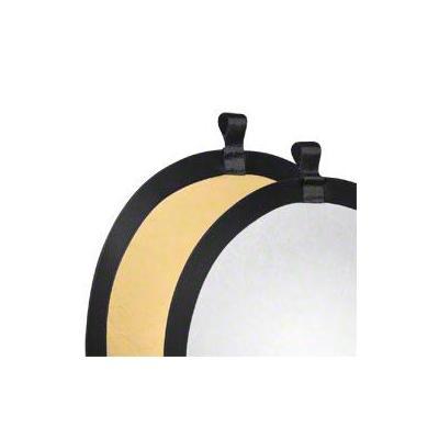Walimex fotostudioreflector: Foldable Reflector golden/silver, Ø56cm - Goud, Zilver