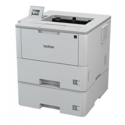 Brother laserprinter: Netwerk Laserprinter 50 ppm - 512 MB - LCD kleuren touchscreen - 2 papierladen - Wireless - Zwart