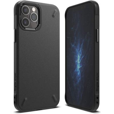 Ringke Onyx Backcover iPhone 12 Pro Max - Zwart - Zwart / Black Mobile phone case