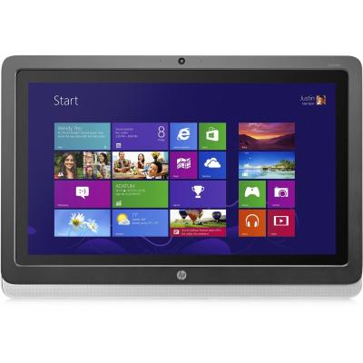 Hp touchscreen monitor: EliteDisplay S230tm - Zwart, Zilver