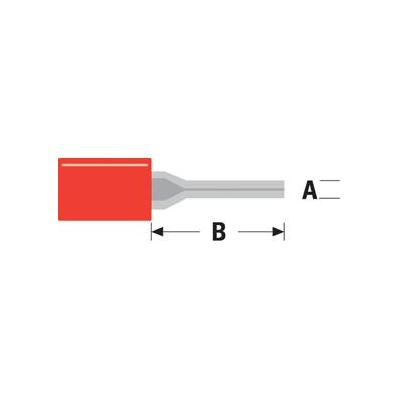 Valueline Pin Connector, PVC, Red Kabel connector - Rood