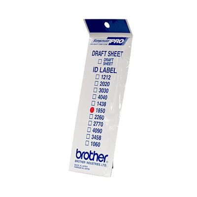 Brother ID1850 Etiket