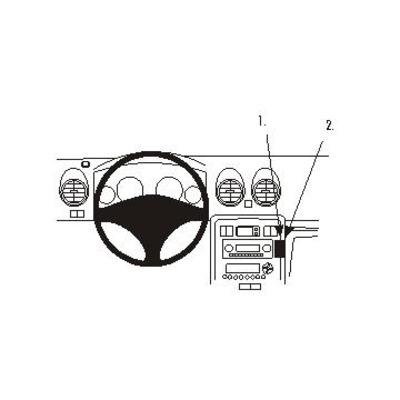 Brodit Angled mount Rover 400/45 Houder - Zwart