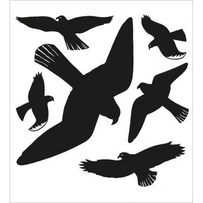 Herma sticker: Warning birds 30x30 cm - Zwart